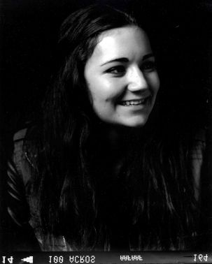 Medium format film portrait of woman