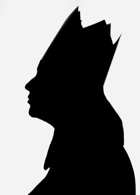 silhouette self portrait of myself as a queen