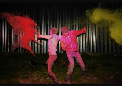 Powder paint thrown at two people