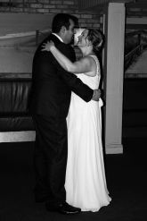 First dance black and white wedding portrait