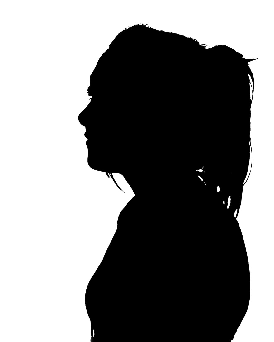 shadow portrait of side profile