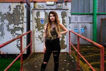 abandoned building portrait