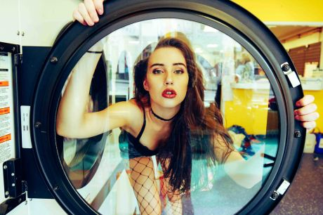 model washing machine portrait