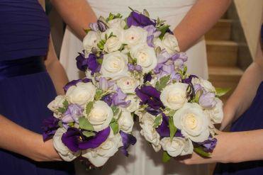 wedding bouquet's side by side