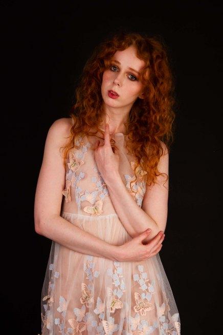 Studio portrait of gemma in a sheer dress
